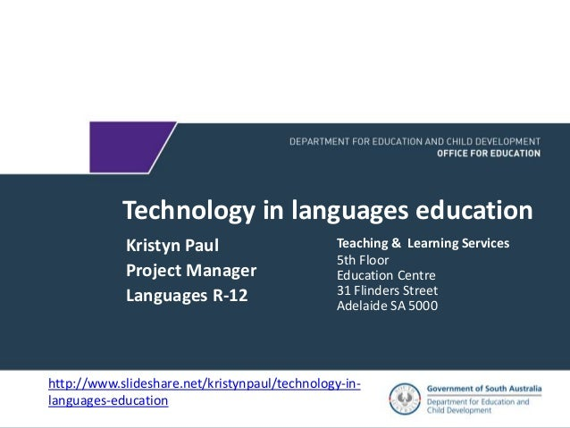 language learning and technology Ma digital technologies for language teaching is an innovative programme for language teachers with at least one year teaching experience (or equivalent) it provides a solid grounding in the pedagogical and practical aspects of new learning technologies with a specific focus on language learning and teaching.