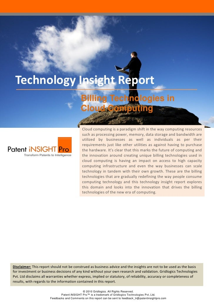 Technology Insight Report                                             Billing Technologies in                             ...