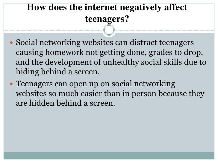 internet and teenagers Debates for teenagers should reflect the concerns of their generation some concerns are old as the hills, and others are things that arise from technology that never.