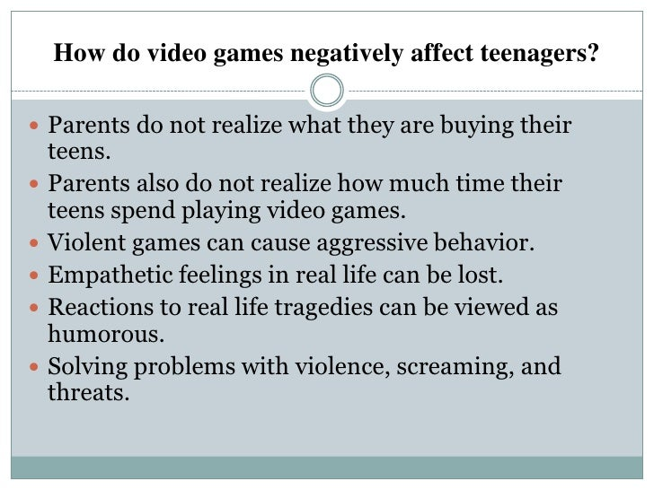 Violent Video Games Cause Behavior Problems Technology in t...