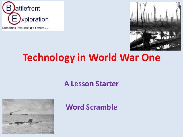 Technology in World War OneA Lesson StarterWord Scramble
