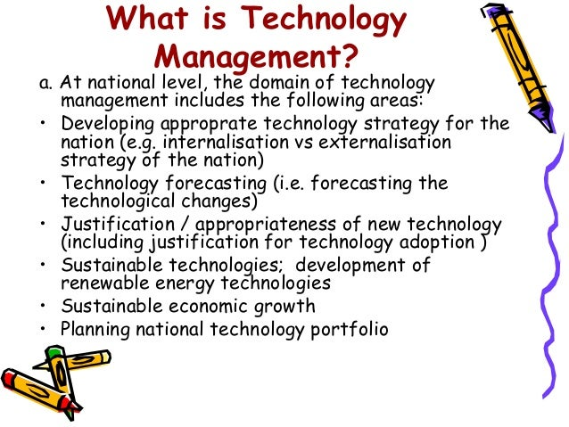 Technology Management Image: Technology Management