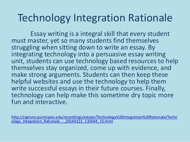 Essay writing about technology