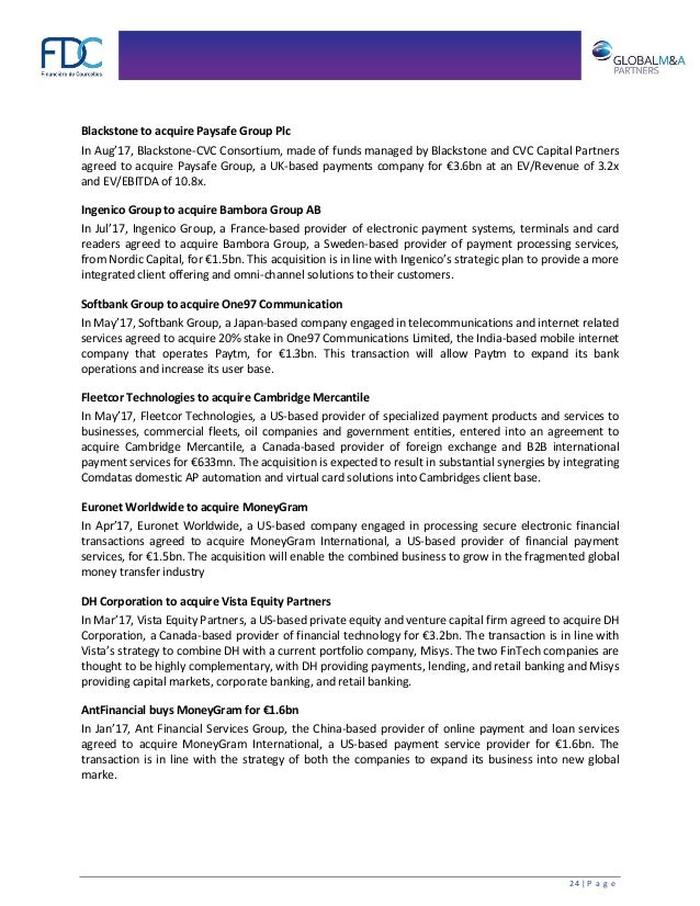 Newsletter Technology Global M&A Partners 2017