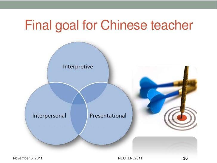 Final goal for Chinese teacherNovember 5, 2011      NECTLN, 2011   36