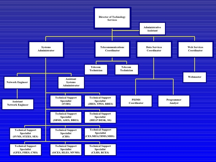 technology organizational chart and action plan