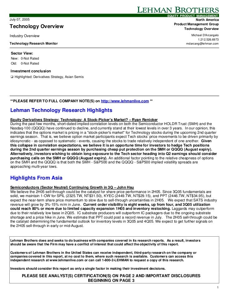 EQUITY PRODUCT MANAGEMENTJuly 07, 2005                                                                                    ...