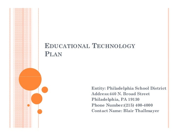 Technology Plan Ppt