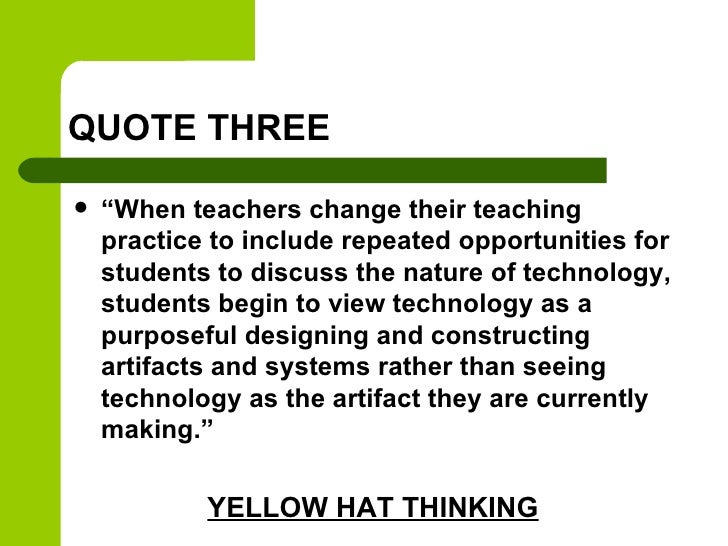 """QUOTE THREE   """"When teachers change their teaching    practice to include repeated opportunities for    students to discu..."""