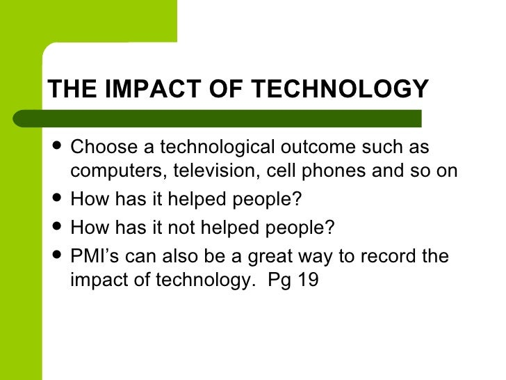 effects of modern technology essay Gunay badalova effects of technology in bad effects of modern technology in the.