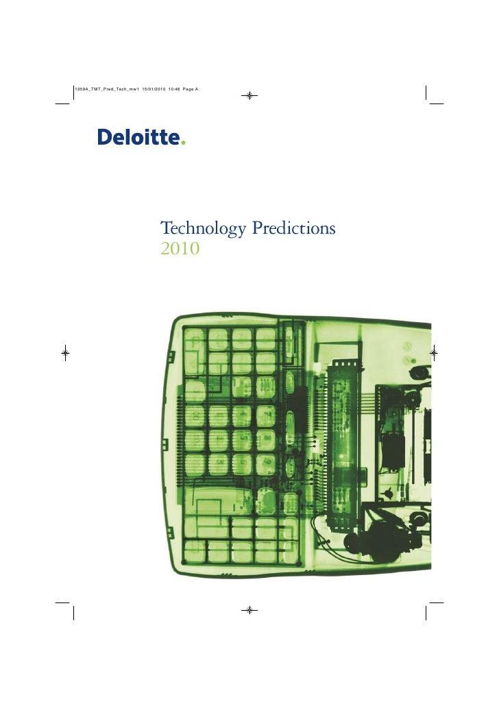Deloitte technology predictions 2010 technology predictions 2010 fandeluxe Gallery