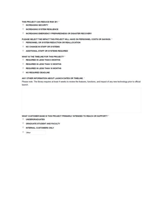 Technology project request form – Project Request Form
