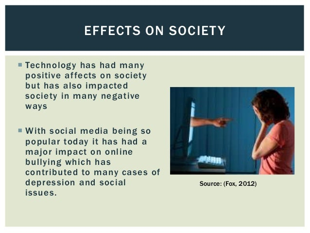 technologys negative impact on society Technology surrounds and while the influence of technology on humanity always has been and always will be significant the real influence on society is what.