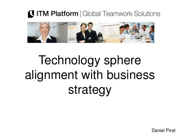 Technology spherealignment with business        strategy                      Daniel Piret