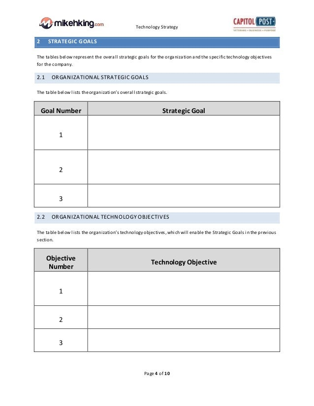 Technology Strategy Template