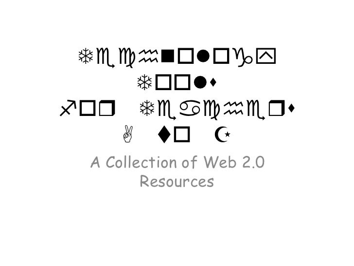 Technology Toolsfor TeachersA to Z<br />A Collection of Web 2.0 Resources<br />