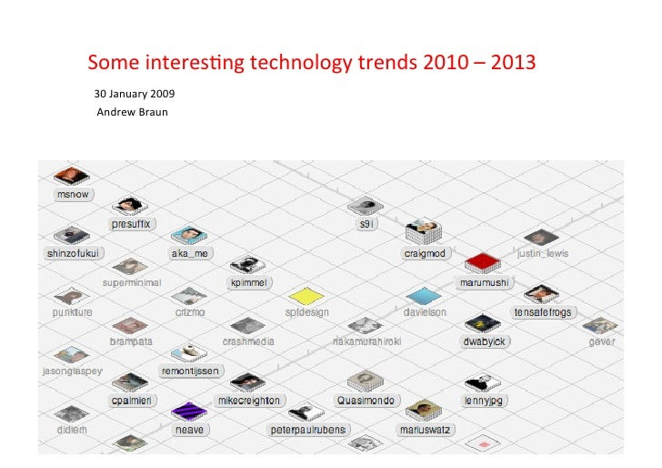 Some  interes+ng  technology  trends  2010  –  2013   30  January  2009     Andrew  Braun