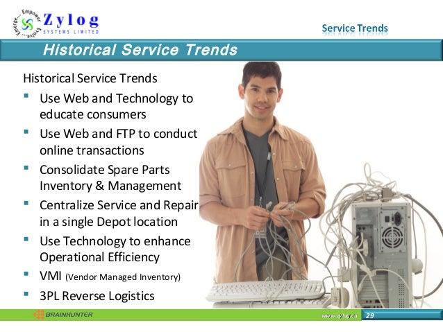 www.zylog.cawww.zylog.ca 29 Historical Service Trends Historical Service Trends  Use Web and Technology to educate consum...