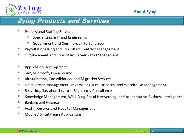 www.zylog.cawww.zylog.ca 4  Professional Staffing Services  Specializing in IT and Engineering  Government and Commerci...