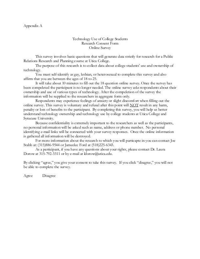 Survey Consent Form. Qualitative Interview Consent Form Sample ...