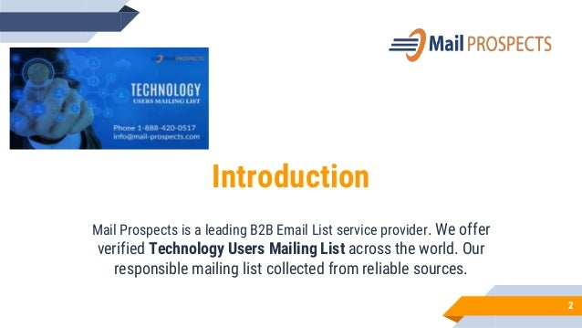 Technology users mailing list   Slide 2