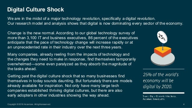 Change is the new normal. According to our global technology survey of  more than 3,100 IT and business ...