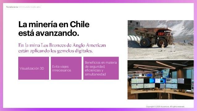 Tendencia | El mundo replicado Lamineríaen Chile estáavanzando. Visualización 3D Evita viajes innecesarios Beneficios en m...