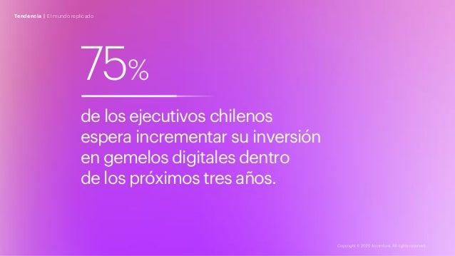 75% de los ejecutivos chilenos espera incrementar su inversión en gemelos digitales dentro de los próximos tres años. Tend...