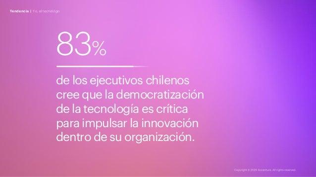 83% de los ejecutivos chilenos cree que la democratización de la tecnología es crítica para impulsar la innovación dentro ...