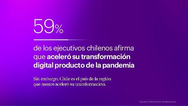 59% de los ejecutivos chilenos afirma que acelerósutransformación digitalproducto delapandemia