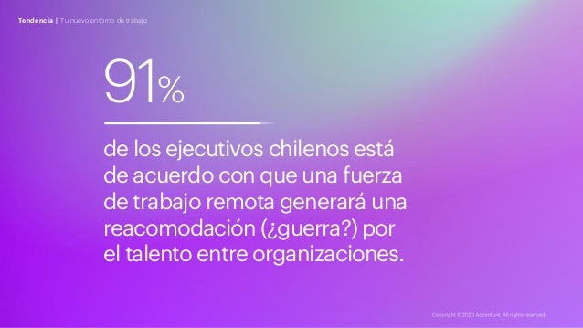 Tendencia | Tu nuevo entorno de trabajo 91% de los ejecutivos chilenos está de acuerdo con que una fuerza de trabajo remot...