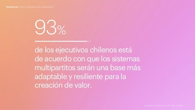 Tendencia | De lo individual a la colaboración 93% de los ejecutivos chilenos está de acuerdo con que los sistemas multipa...