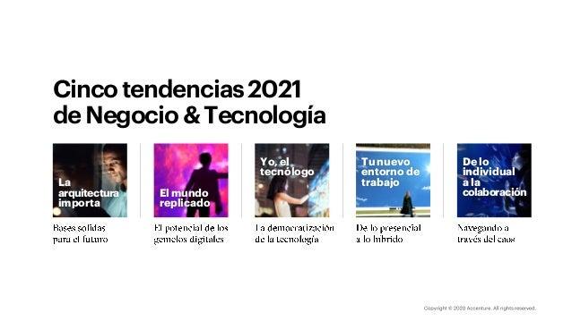 Cincotendencias2021 deNegocio&Tecnología Tu nuevo entorno de trabajo De lo individual a la colaboración Yo, el tecnólogo E...