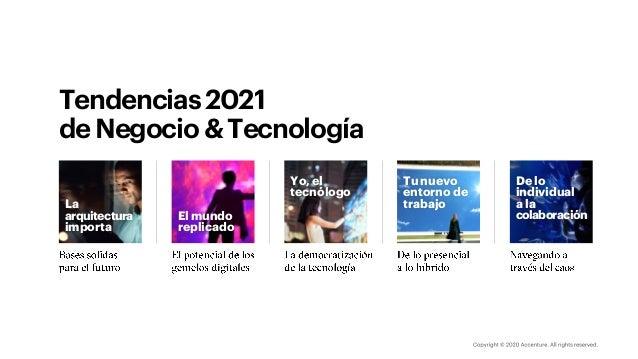 Tendencias2021 deNegocio&Tecnología Tu nuevo entorno de trabajo De lo individual a la colaboración Yo, el tecnólogo El mun...