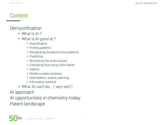 Technology watch - AI in chemical industry Slide 2