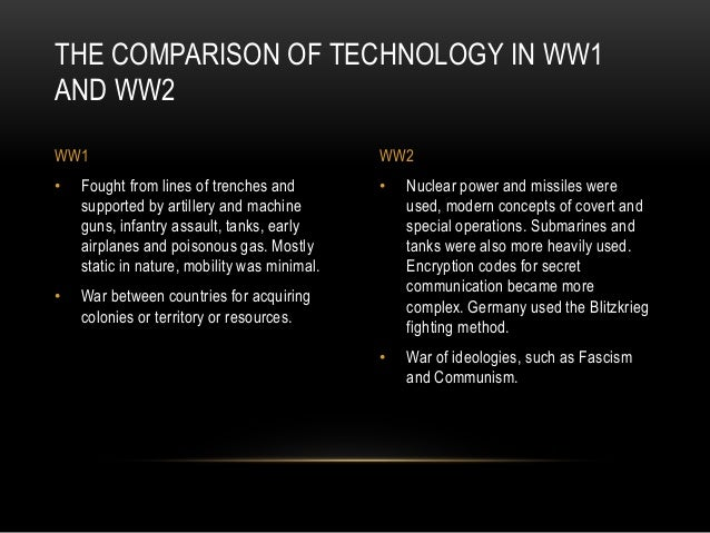 technology war ww2 ww1 comparison oppenheimer robert states britain