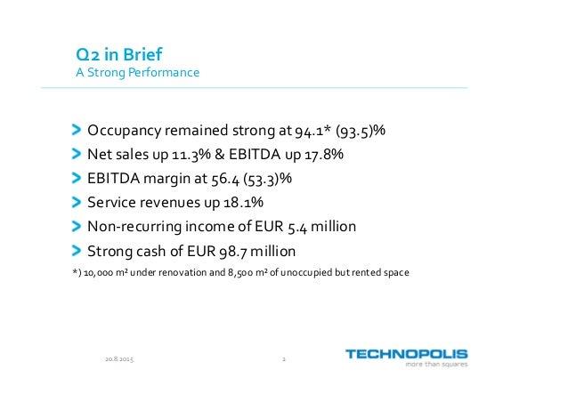 Technopolis presentation Q2/2015 Slide 2
