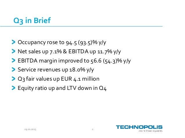 Technopolis Q3 2015 presentation Slide 2
