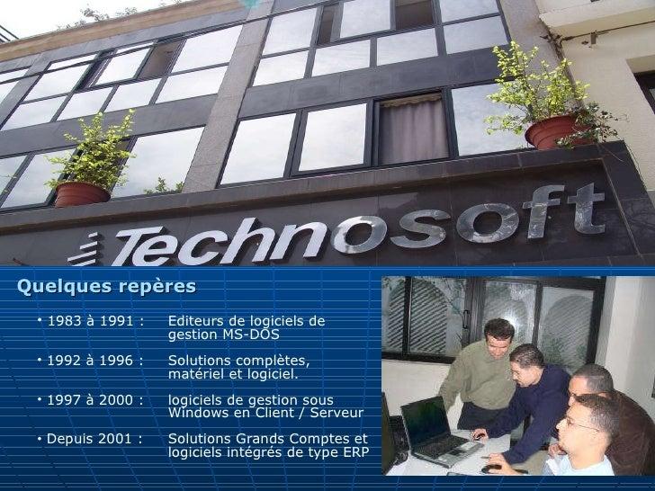 <ul><li>1983 à 1991 :  Editeurs de logiciels de  gestion MS-DOS </li></ul><ul><li>1992 à 1996 :  Solutions complètes,  mat...