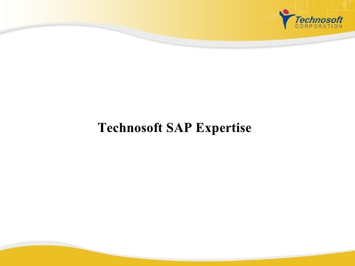 Technosoft SAP Expertise