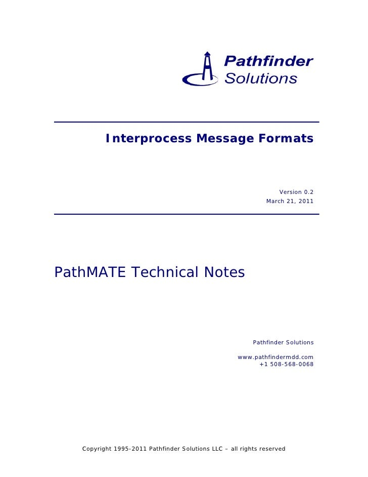 Interprocess Message Formats                                                                  Version 0.2                 ...
