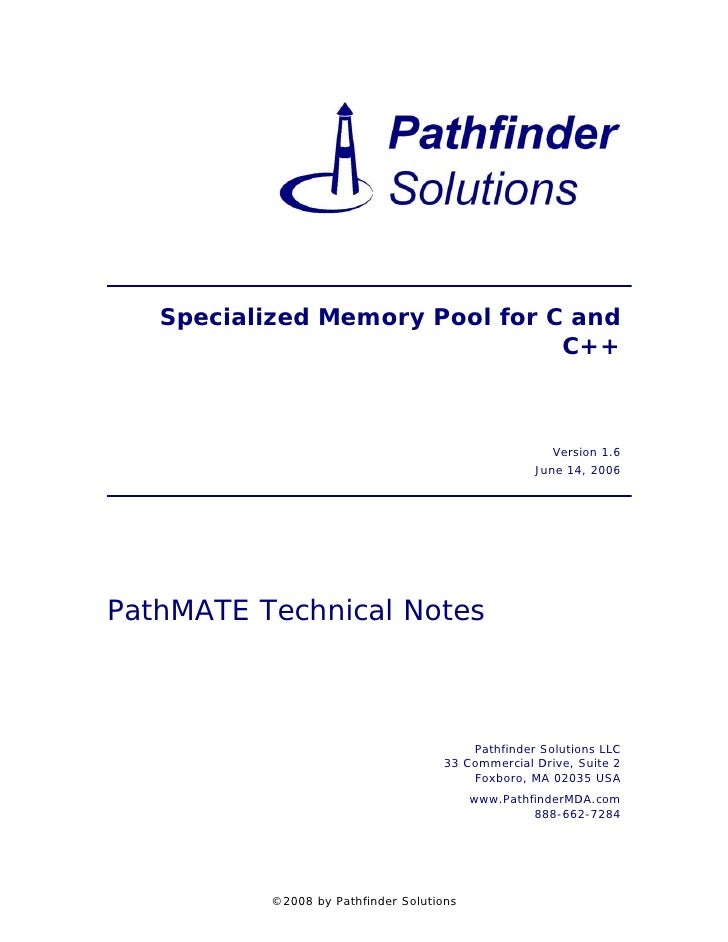 Specialized Memory Pool for C and                                C++                                                      ...