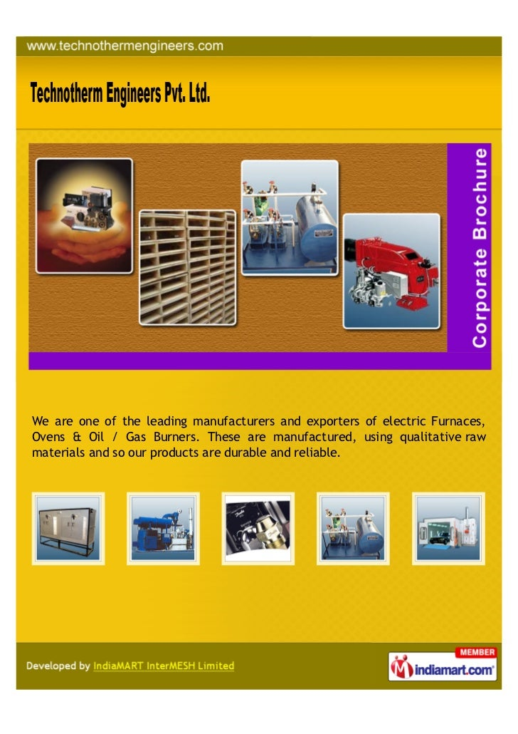 We are one of the leading manufacturers and exporters of electric Furnaces,Ovens & Oil / Gas Burners. These are manufactur...