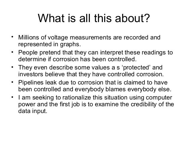 What is all this about? • Millions of voltage measurements are recorded and represented in graphs. • People pretend that t...