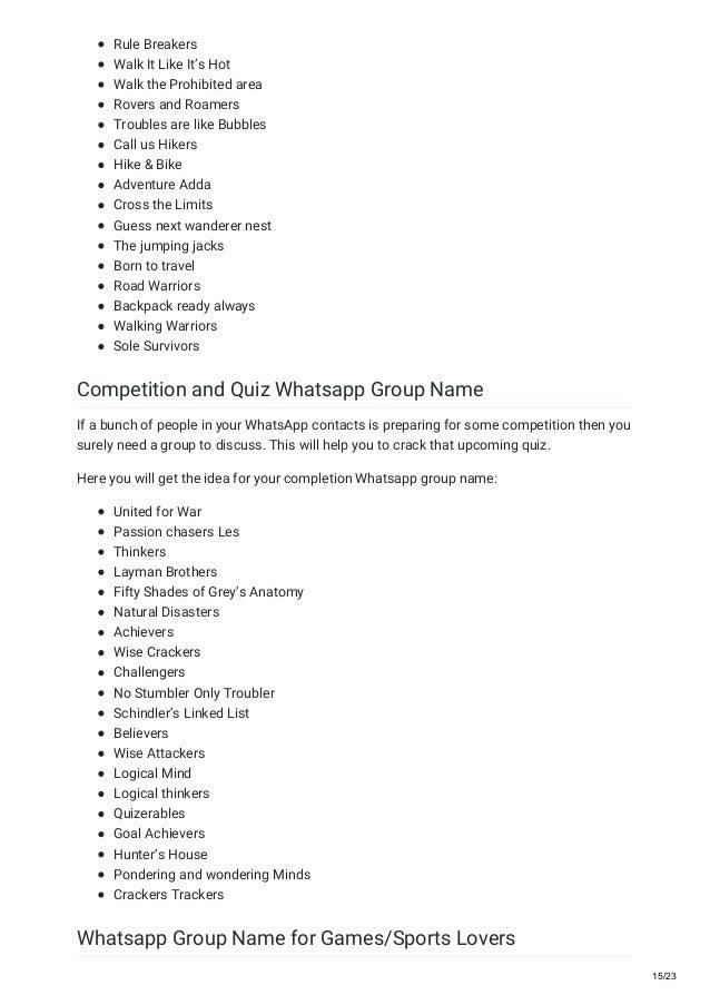Mind Group Names