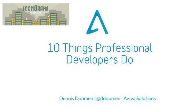 Dennis Doomen | @ddoomen | Aviva Solutions
