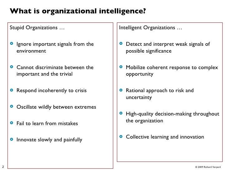 Technologies for Organizational Intelligence Slide 2