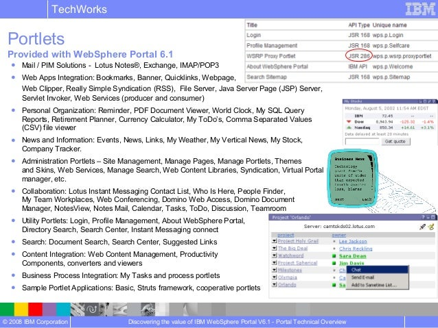 Websphere Portal Technical Overview