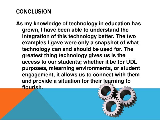 philosophy of technology in education