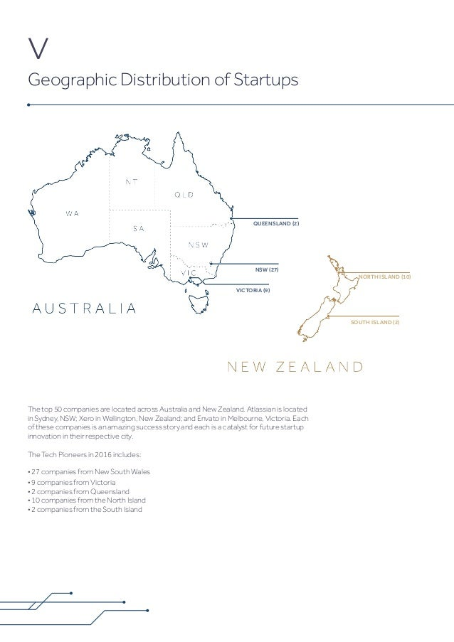 QUEENSLAND (2) NSW (27) VICTORIA (9) SOUTH ISLAND (2) NORTH ISLAND (10) The top 50 companies are located across Australia ...